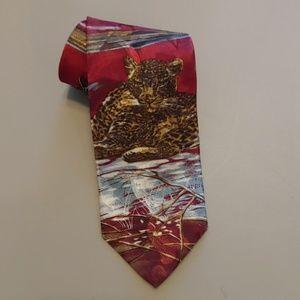 "Vintage Lost Kingdom Men's ""Cheetah"" Tie"